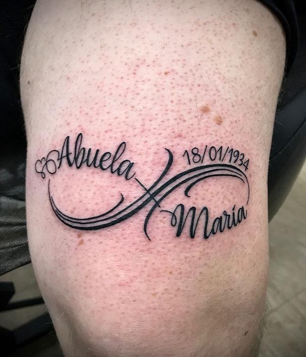tatuaje infinito amor abuela en Cartagena, Murcia